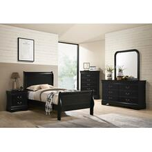 Louis Philippe Nightstand, Black