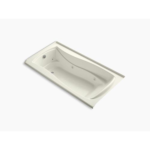 """Biscuit 72"""" X 36"""" Alcove Whirlpool With Integral Flange, Heater and Left-hand Drain"""