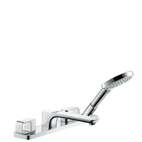 Brushed Gold Optic 4-hole rim mounted bath mixer