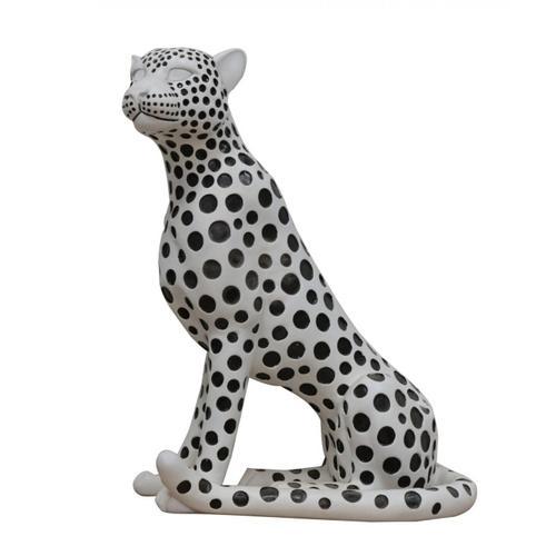Gallery - Modrest Snow Leopard - White & Black Sculpture