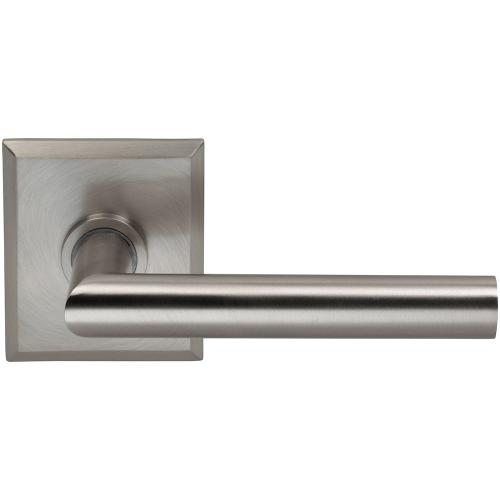 Product Image - Interior Modern Lever Latchset with Rectangular Rose in (US15 Satin Nickel Plated, Lacquered)