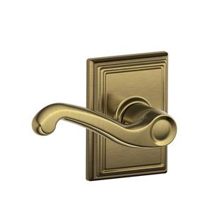 Flair Lever with Addison trim Hall & Closet Lock - Antique Brass Product Image