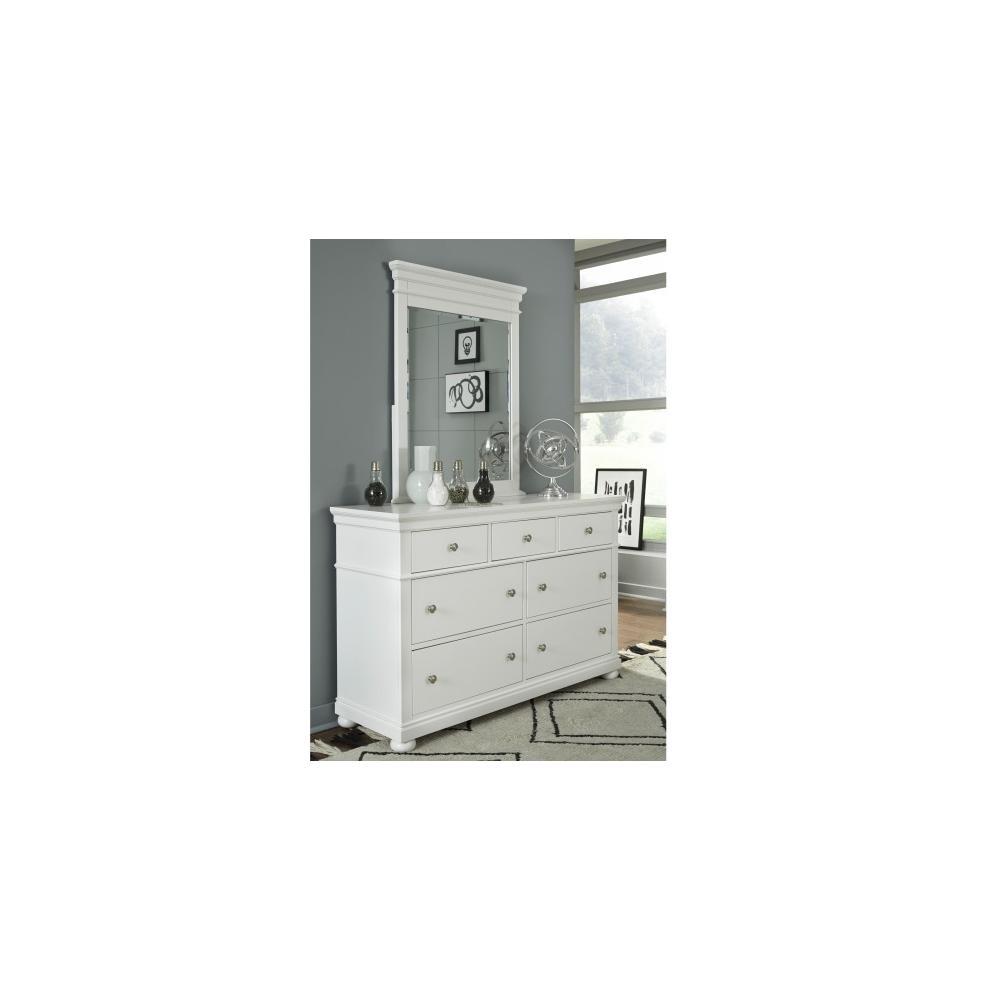 See Details - Canterbury - White Vertical Mirror