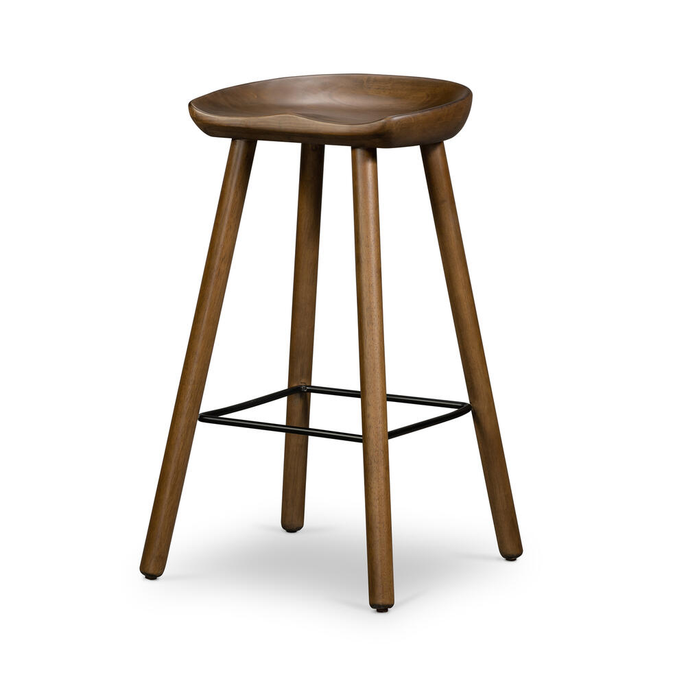 Bar Size Dark Parawood Finish Barrett Bar + Counter Stool