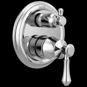 Chrome Traditional 2-Handle Monitor ® 14 Series Valve Trim with 6-Setting Integrated Diverter Product Image