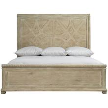 King Rustic Patina Panel Bed in Sand (387)