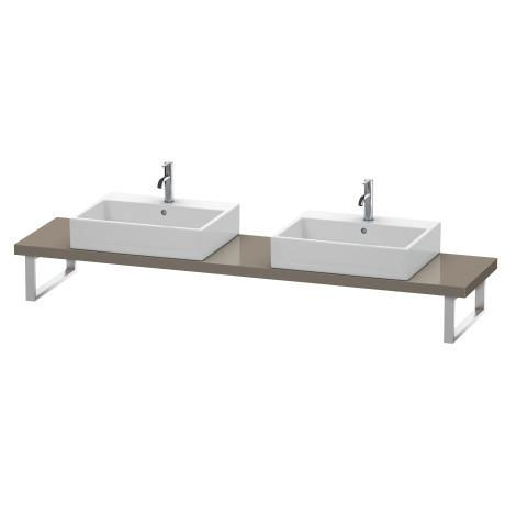 Console For Above-counter Basin And Vanity Basin Compact, Flannel Gray High Gloss (lacquer)