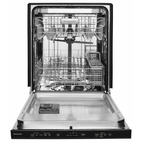 Gallery - 46 DBA Dishwasher with Third Level Rack and PrintShield Finish, Pocket Handle Black Stainless Steel with PrintShield™ Finish