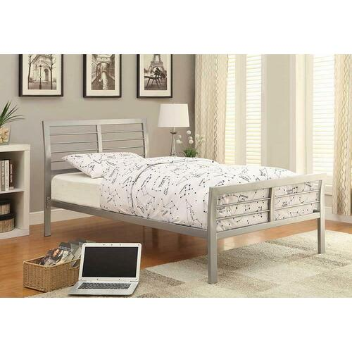 Cooper Contemporary Silver Metal Twin Bed
