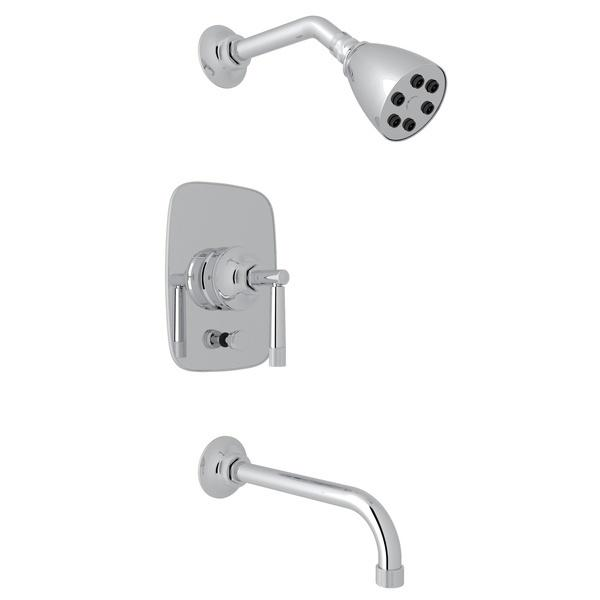 Polished Chrome Michael Berman Graceline Pressure Balance Shower Package with Metal Lever Graceline Series Only