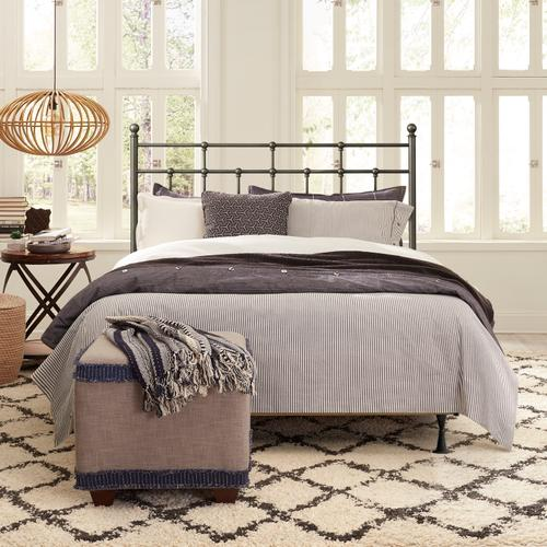Gallery - Providence Metal Full/queen Headboard and Frame, Aged Pewter