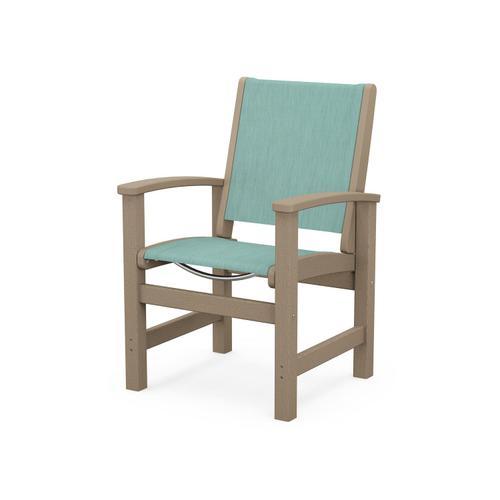 Coastal Dining Chair in Vintage Sahara / Aquamarine Sling