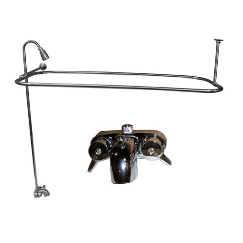 """Brocton 68"""" Cast Iron Roll Top Tub Kit - Polished Chrome Accessories"""