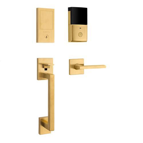 Lifetime Satin Brass Minneapolis Touchscreen Dummy Handleset