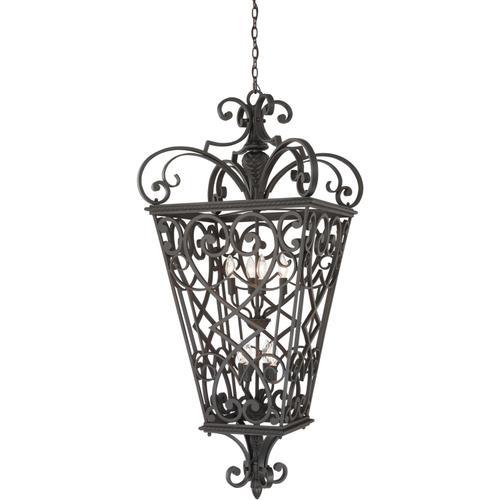 Quoizel - Fort Quinn Outdoor Lantern in Marcado Black