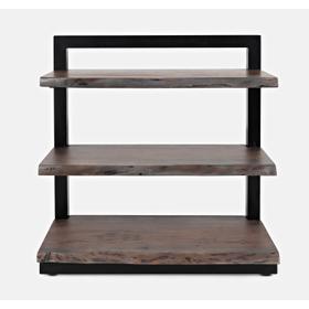 Product Image - Nature's Edge 3 Shelf Bookcase-brushed Grey