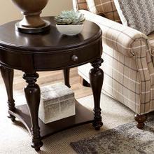 Waxy Pine Heartland Pine Round Lamp Table