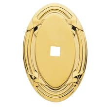 Polished Brass Oval Edinburgh Back Plate