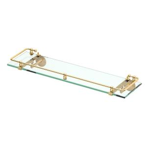 Premier Railing Shelf #1 in Polished Brass Product Image