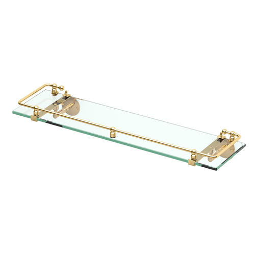 Premier Railing Shelf #1 in Polished Brass