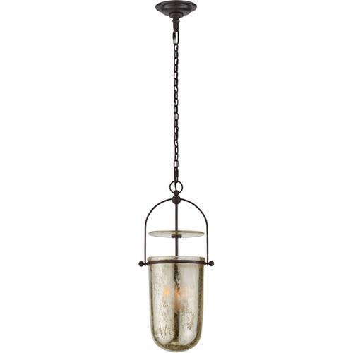 - E. F. Chapman Lorford 3 Light 10 inch Aged Iron Lantern Pendant Ceiling Light, Tall Smoke Bell