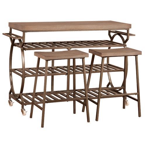 Gallery - Paddock Three-piece Kitchen Cart Set