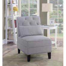 See Details - Everton Tufted Accent Chair, Gray