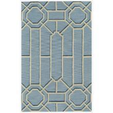 Fretwork Lt. Blue - Rectangle - 5' x 8'