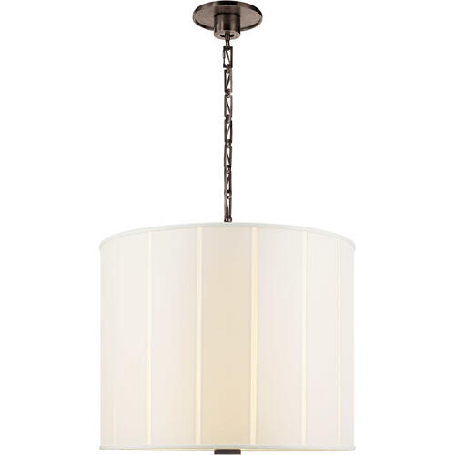 Visual Comfort - Barbara Barry Perfect Pleat 2 Light 23 inch Bronze Hanging Shade Ceiling Light