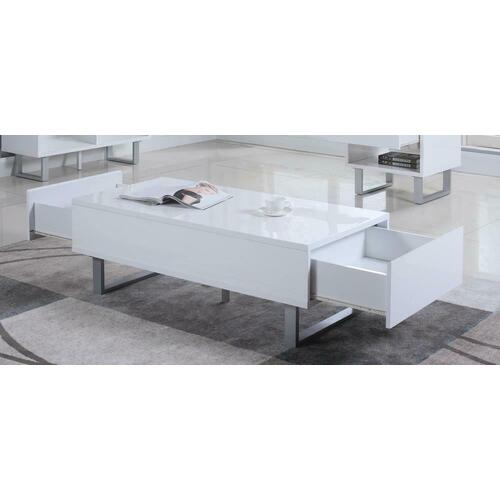 Product Image - Contemporary Glossy White Coffee Table