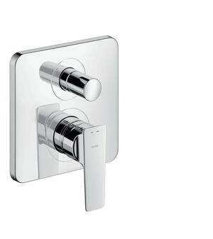 Polished Black Chrome Single lever bath mixer for concealed installation Product Image