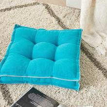 "Outdoor Pillows Qy029 Turquoise 18"" X 18"" X 3"" Seat Cushion"