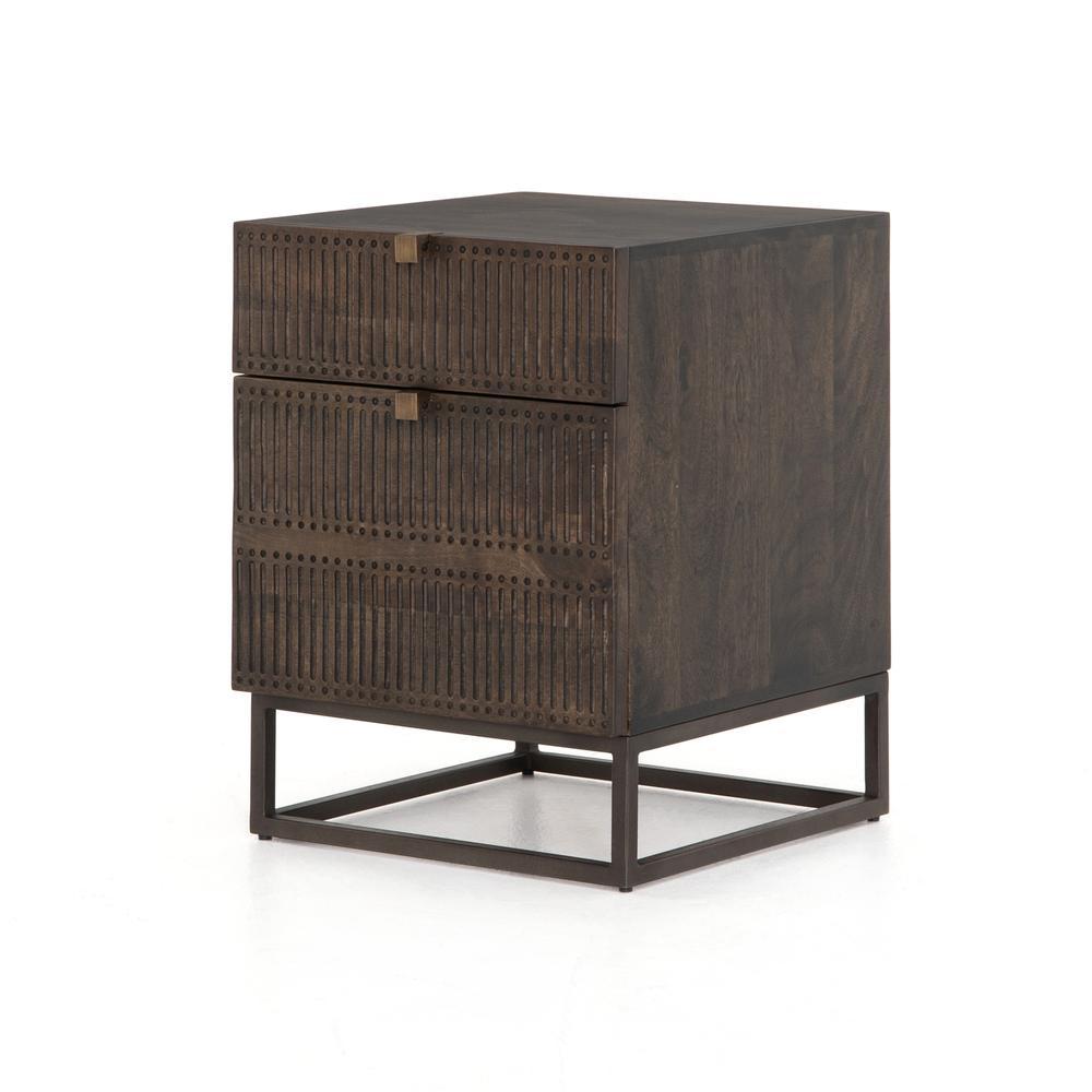 Kelby Filing Cabinet-carved Vintage Brwn