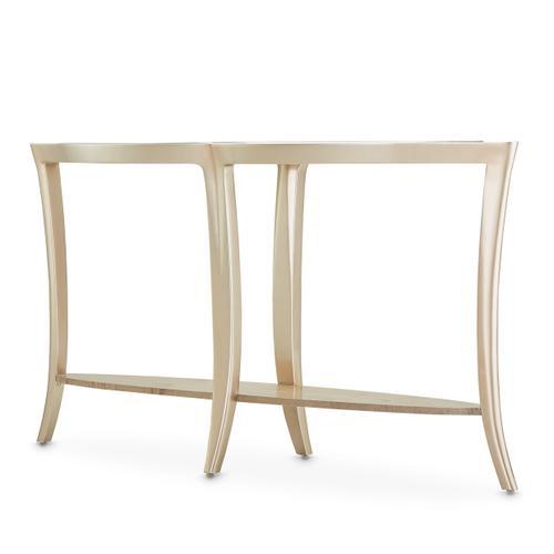 Console Table W/glass Chardonnay