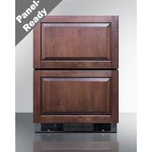 """24"""" Wide Panel-ready 2-drawer Refrigerator-freezer With Icemaker (panel Not Included)"""