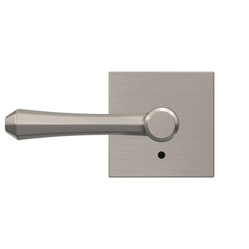 Custom Dempsey Non-Turning Lever with Collins Trim - Satin Nickel