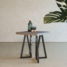 View Product - Modrest Richmond Modern Concrete & Black Metal End Table