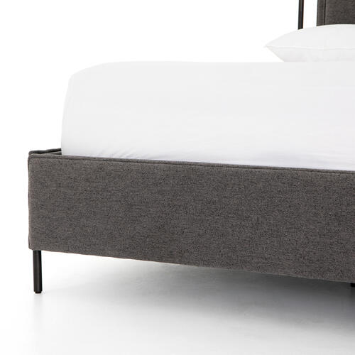 Queen Size San Remo Ash Cover Leigh Upholstered Bed