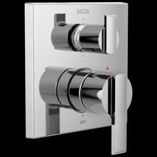 Chrome Angular Modern Monitor ® 14 Series Valve Trim with 6-Setting Integrated Diverter