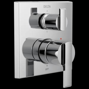 Chrome Angular Modern Monitor ® 14 Series Valve Trim with 6-Setting Integrated Diverter Product Image
