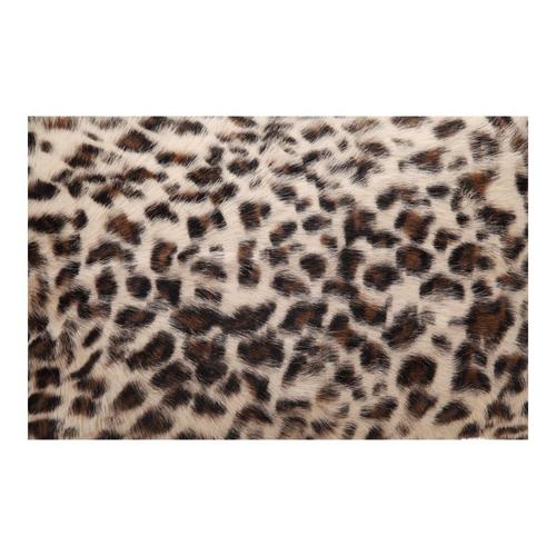 Moe's Home Collection - Goat Fur Bolster Spotted Brown Leopard