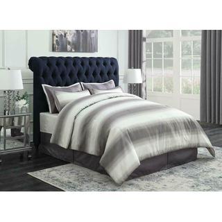 Gresham Navy Blue Upholstered Queen Bed