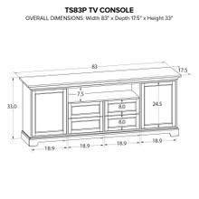 TS83P Custom TV Console