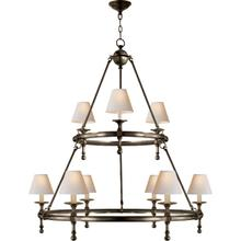 E. F. Chapman Classic 9 Light 45 inch Bronze Chandelier Ceiling Light
