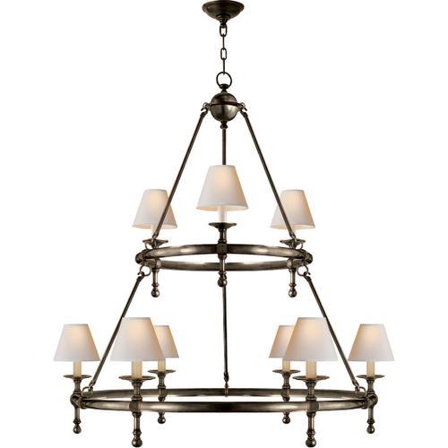 E. F. Chapman Classic 9 Light 45 inch Bronze Chandelier Ceiling Light