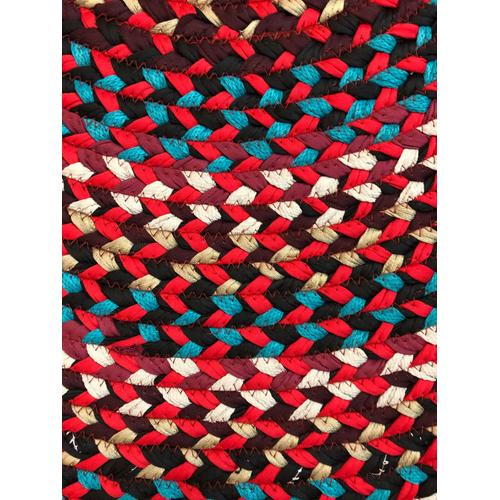 """Hometown Braided Rug Red Braided Rugs 4' x 6'(Actual size 48"""" x 72"""")"""