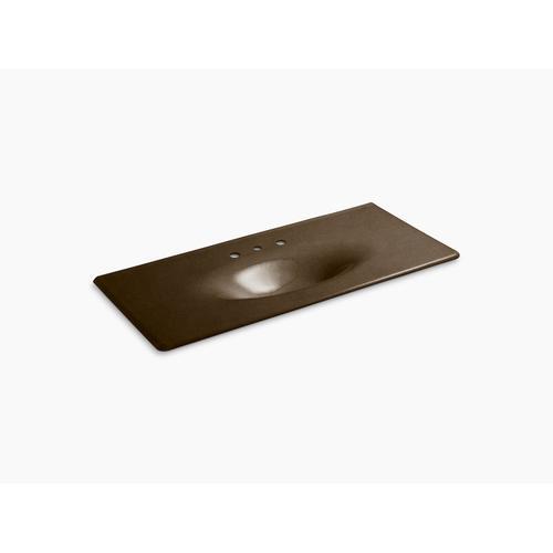 """Black 'n Tan 49"""" Vanity-top Bathroom Sink With 8"""" Widespread Faucet Holes"""
