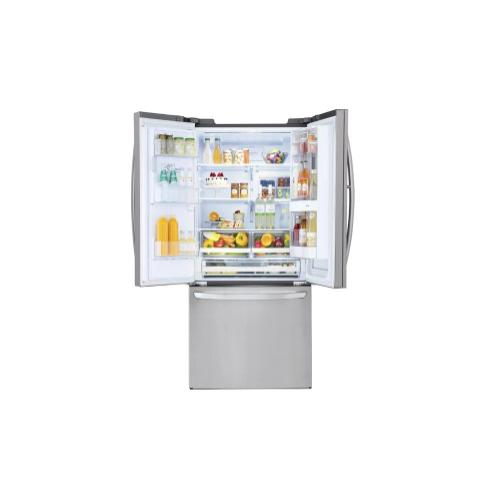 LG 28 cu. ft. Smart wi-fi Enabled InstaView™ Door-in-Door® Refrigerator. (This is a Stock Photo, actual unit (s) appearance may contain cosmetic blemishes. Please call store if you would like actual pictures). This unit carries our 6 month warranty, MANUFACTURER WARRANTY and REBATE NOT VALID with this item. ISI 39897