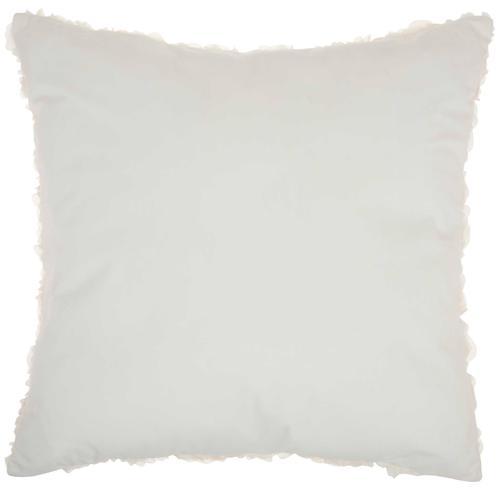 "Fur L1940 Ivory 24"" X 24"" Throw Pillow"