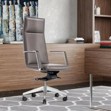View Product - Modrest Gorsky- Modern Grey High Back Executive Office Chair